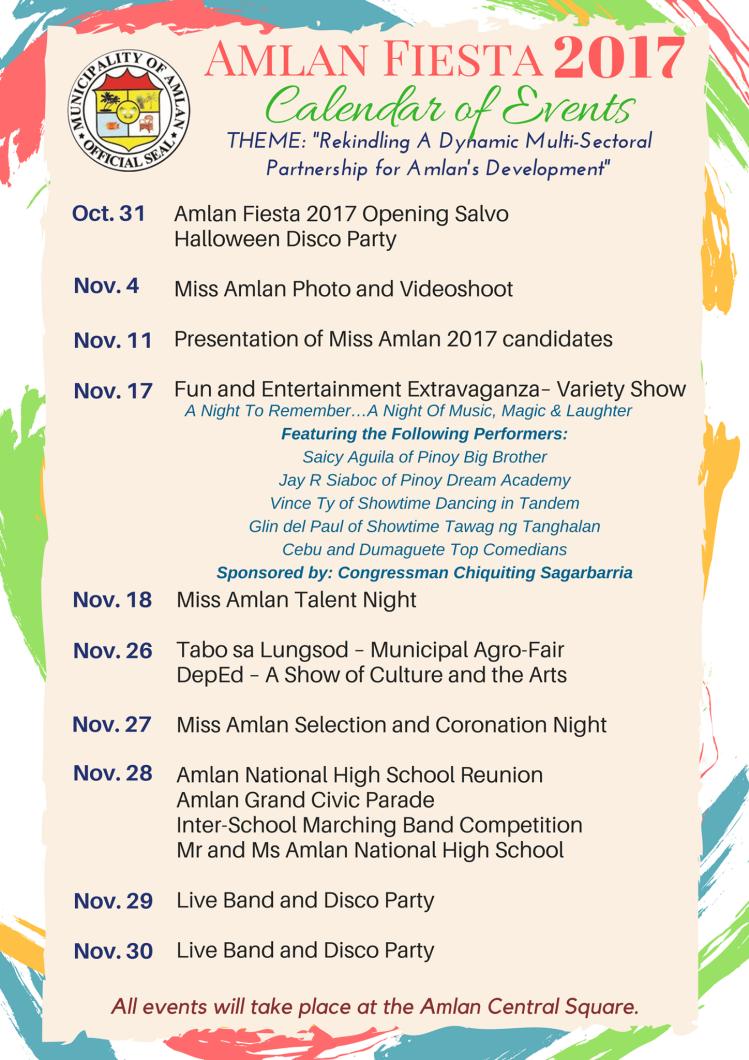 Amlan Calendar of Events