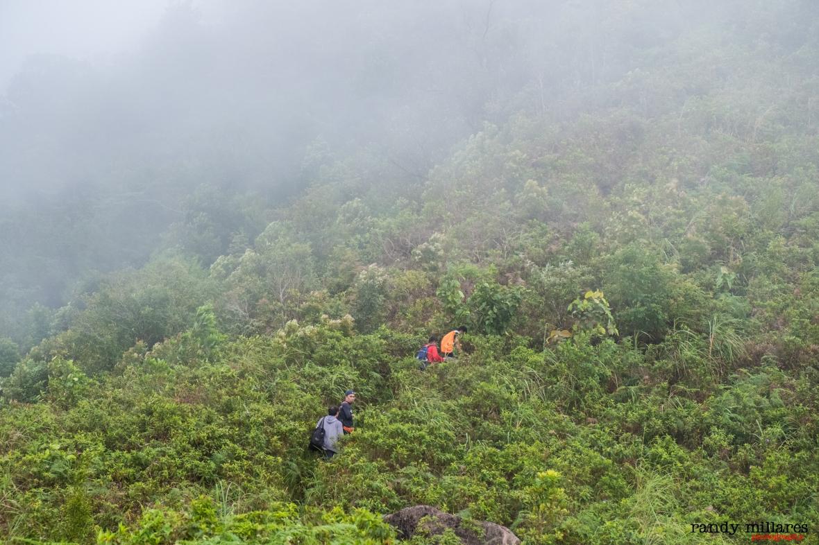 mid-climb